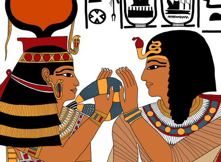 The Goddess Hathor Welcomes Seti I to the Underworld