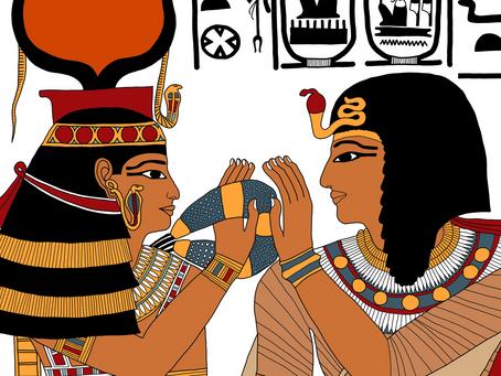 The Goddess Hathor Welcomes Seti I to the Underworld