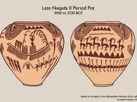 Naqada Pottery of Predynastic Egypt; a 5,400-year-old Representation of a River Festival