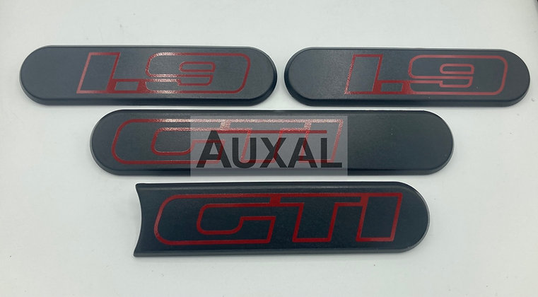 Logo custode enjoliveur custode side badge 205 GTI 1.9 1l9 Ph2 Phase 2 LOGO noir