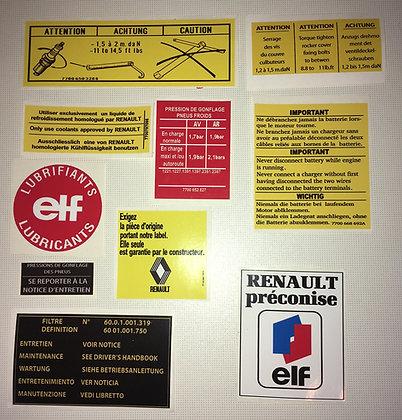 Kit stickers compartiment moteur/ intérieur porte