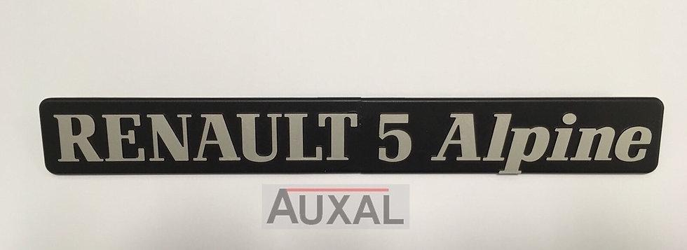 Logo coffre Renault 5 - R5 Alpine Aluminium origine