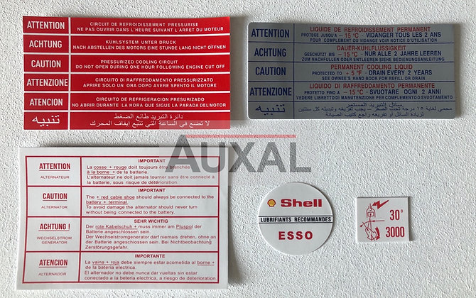 Kit sticker - stickers compartiment moteur Peugeot 205 GTI 1.6 - 1.9 engine bay