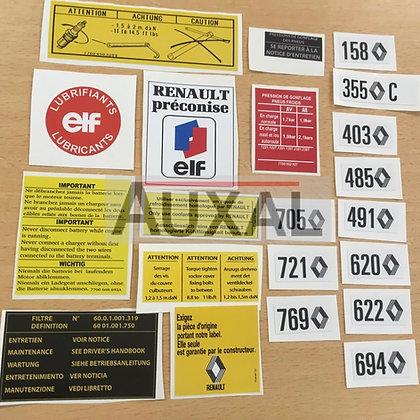 Kit stickers compartiement moteur/ intérieur porte