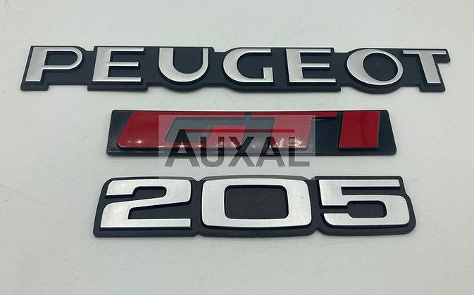 Logo coffre PEUGEOT 205 GTI embleme sigle rear boot
