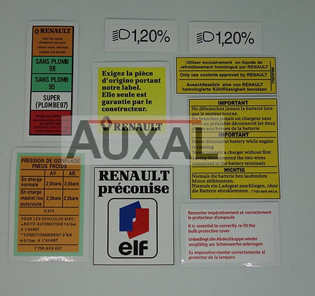 Kit stickers compartiment moteur phase 1