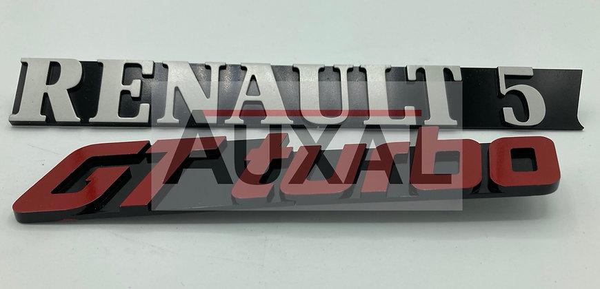 Logo coffre sigle Renault 5 R5 Super 5 GT Turbo rear boot emblem 77 00769 492