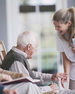 Seniors Socializing
