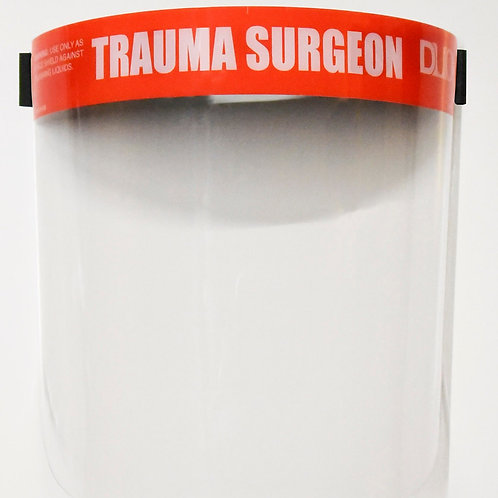 DUO FACE SHIELD: RED (Trauma Surgeon)