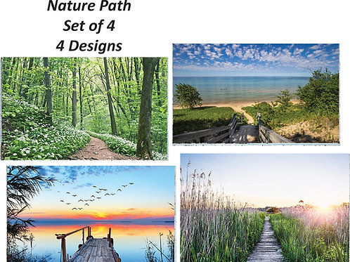 DUO PLACEMATS: NATURE PATHS