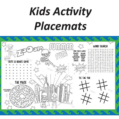DUO PLACEMATS: KIDS ACTIVITY