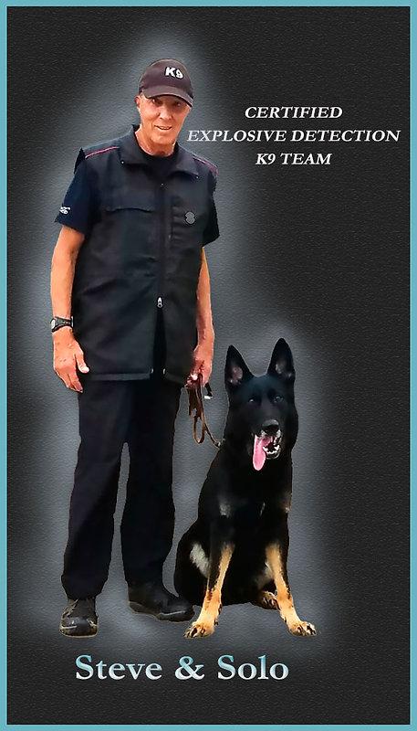 explosive detection dog handler