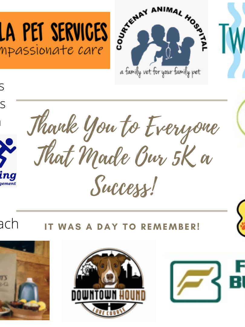 Thank You to Everyone That Made Our 5K a