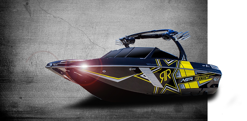 Wake Boarding Boat Wrap