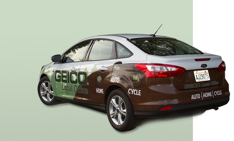 ford focus half wrap with a pacific north west theme