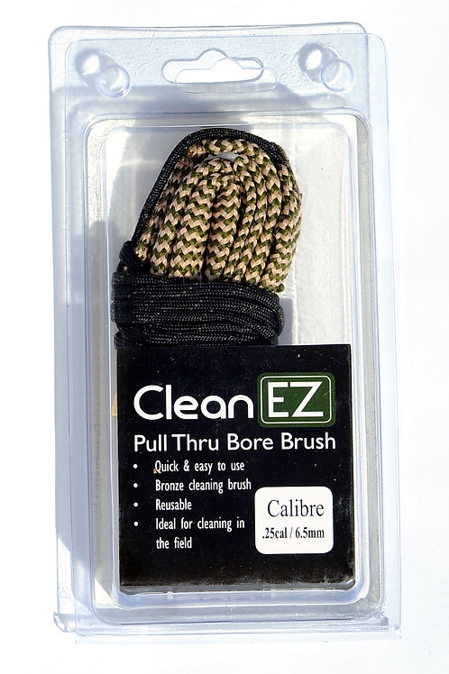 Clean EZ Pull Thru Bore Brush .25cal/6.5mm