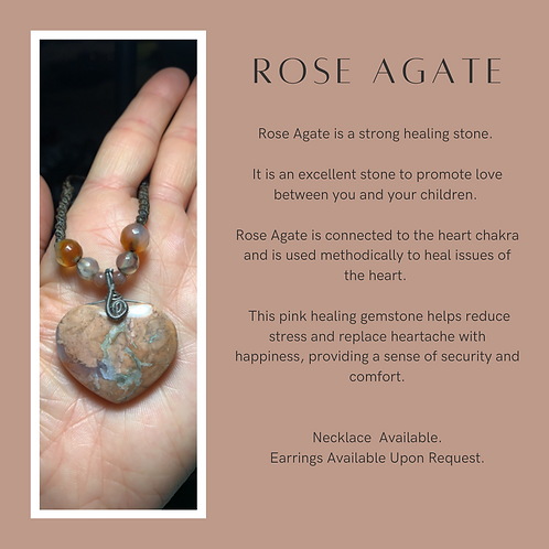 Rose Agate Necklace