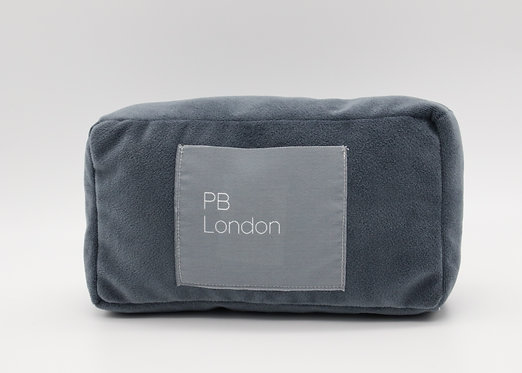 Pillow to fit the Chanel Boy Bag small in blue/grey velvet