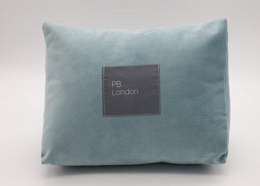 Pillow to fit Hermès Kelly 25cm bag in Duck Egg Blue velvet