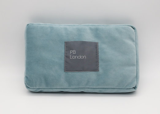Pillow to fit a Chanel Flap Bag Large in Duck Egg Blue Velvet