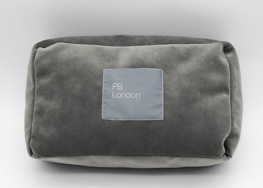 Pillow to fit a Chanel Boy bag small in  Grey Velvet