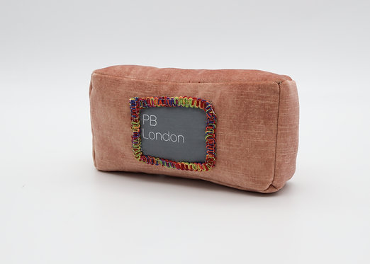 Pillow to fit the Chanel Boy Bag in Blush Velvet w/ Trim