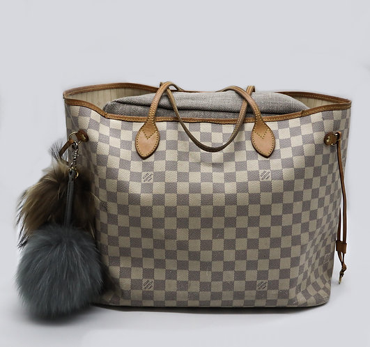 Pillow to fit a Louis Vuitton Never Full MM Tote in Natural Linen