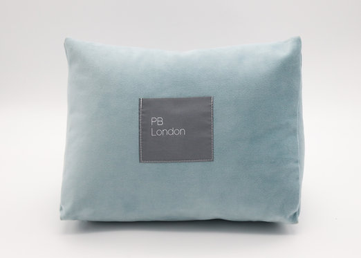 Pillow to fit a Hermès Birkin 35cm in Duck Egg Blue Velvet