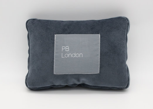 Pillow to fit a Chanel Wallet on a Chain in Blue-Grey Velvet