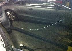 Car Door With Scratch