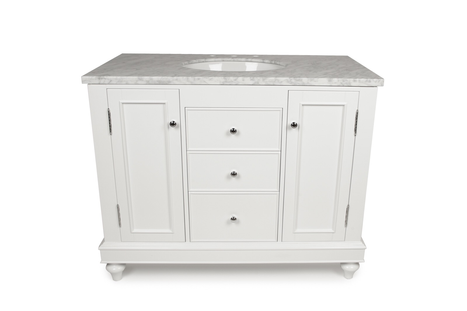 "42"" White Single Sink Vanity"