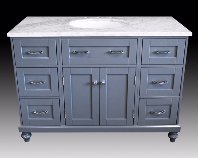 "48"" Gray Single Sink Vanity"