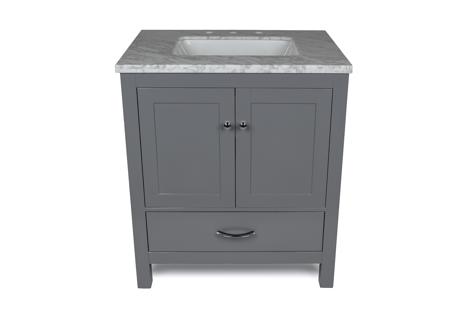 "30"" Gray Single Sink Vanity"