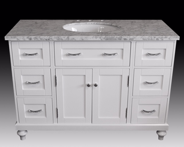 "48"" White Single Sink Vanity"
