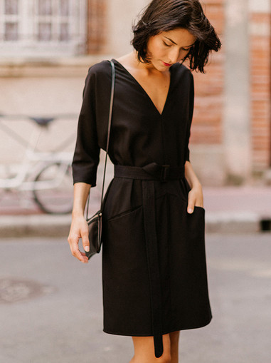 LOMA,  robe tunique chic et confortable, créateur Delphine Josse, boutique de robe  à Toulouse.