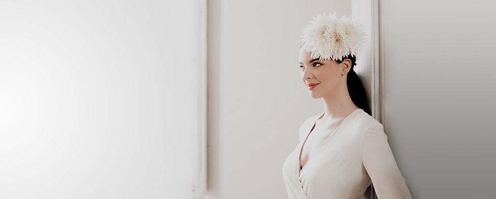 Robe de mariée minimaliste par la créatrice toulousaine Delphine Josse
