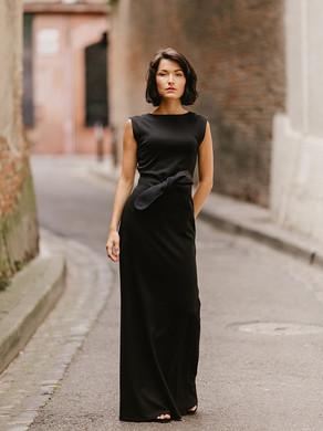 OPHELIE? robe longue de soirée, robe en maille créateur Delphine Josse, boutique de robe  à Toulouse.