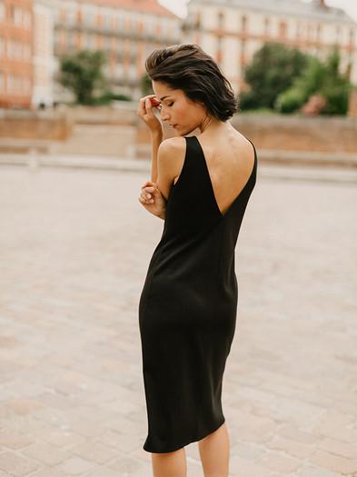 JULIE, robe en maille créateur Delphine Josse, boutique de robe  à Toulouse.