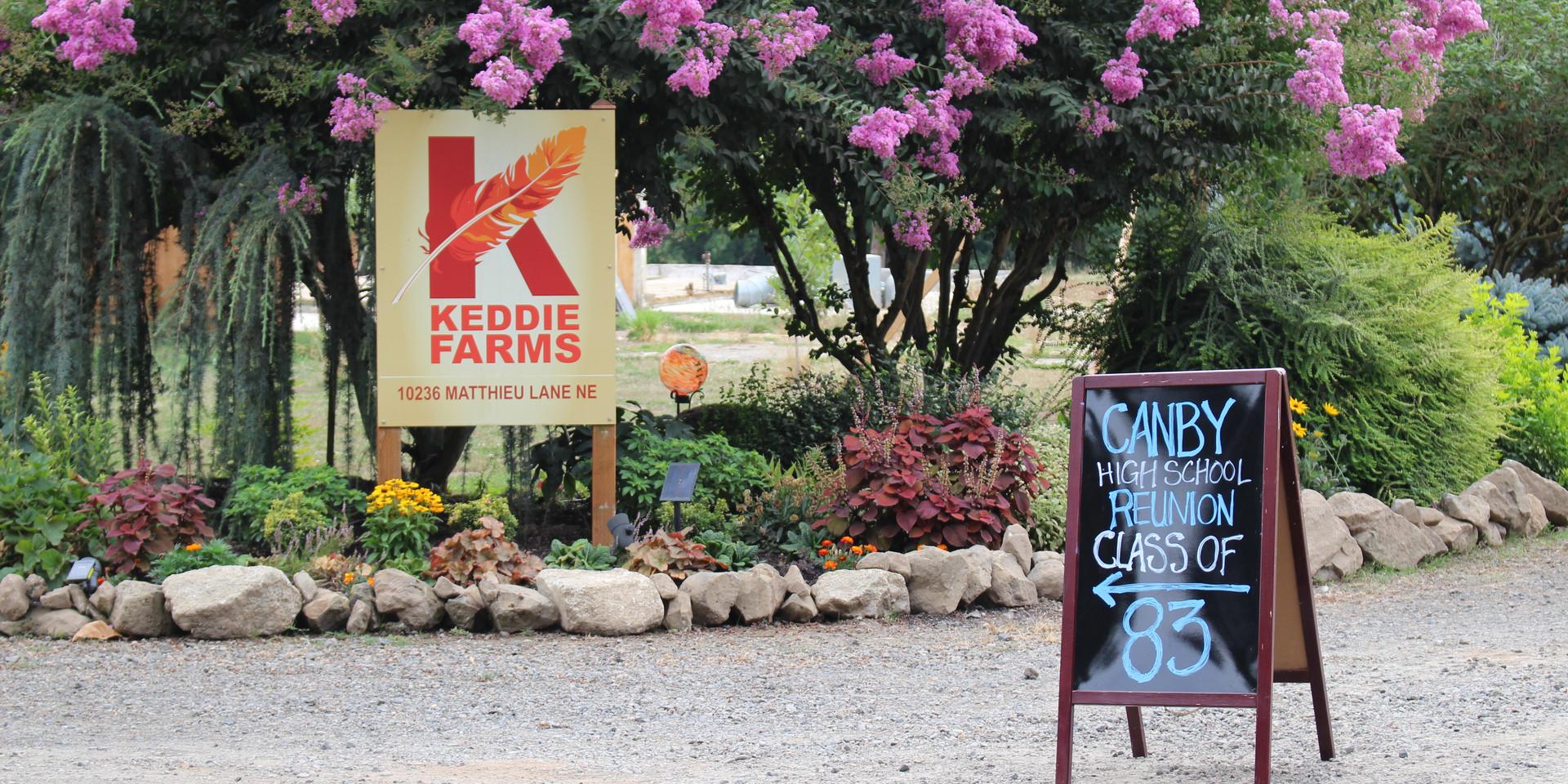 Entrance to Keddie Farms