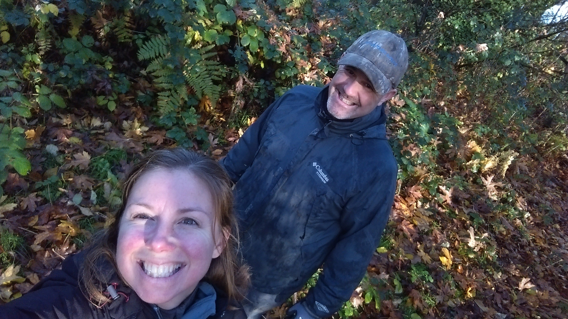 Lora and Reg in the Woods 2015