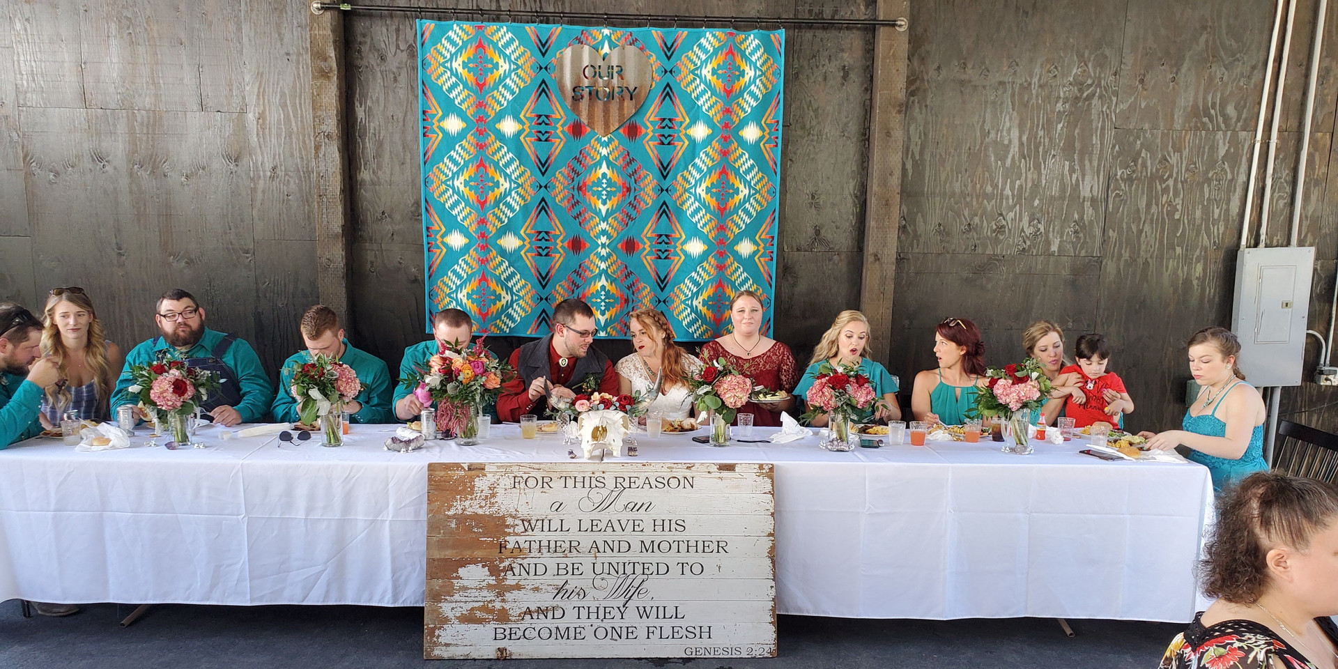 Bridal Table at the Party Patio