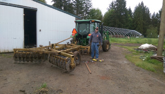 Reg heading out to plow
