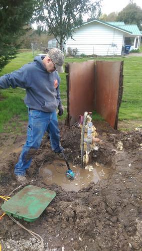 Reg repairing the well - again