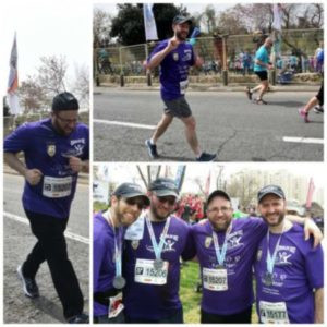 Rabbis Can Run with Kav L'Noar Jerusalem Marathon team