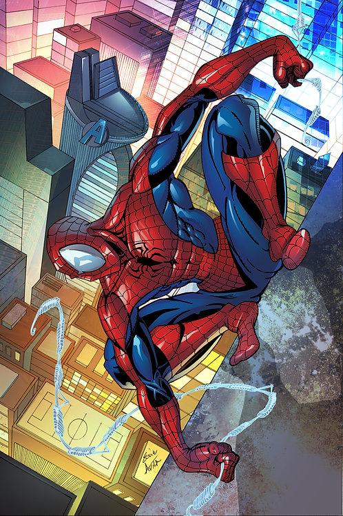 Metal Print (Spiderman)