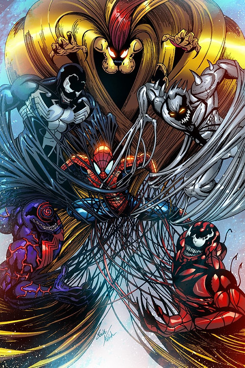 Limited Edition Print (Spiderman vs. Symbiotes)