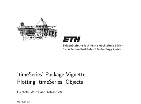'timeSeries' R Package Vignette