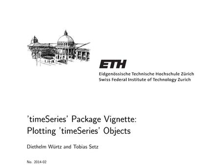 'timeSeries' R Package Vignette