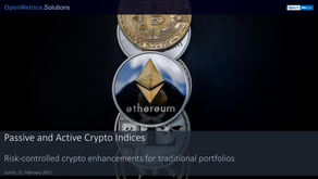 Passive and Active Crypto Indices