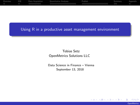 Using R in a productive asset management environment